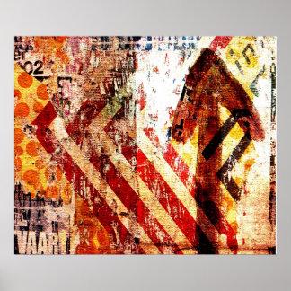 arte abstracto de la decadencia urbana poster