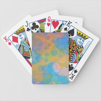 Arte abstracto de la diversión colorida de los baraja de cartas