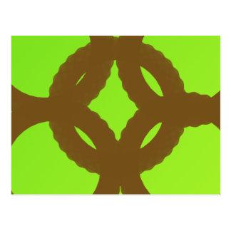 arte abstracto de la eternidad verde postal
