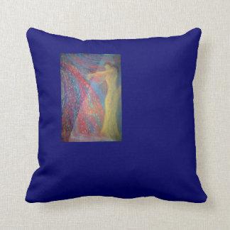 Arte abstracto de la fantasía, almohada azul