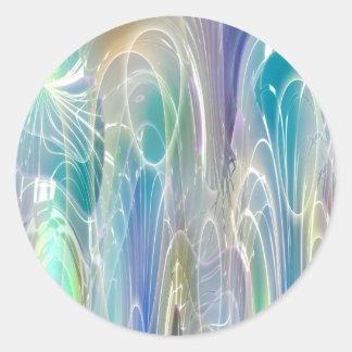 Arte abstracto de la fantasía de Borealis de la Pegatina Redonda