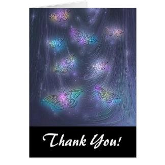 Arte abstracto de la fantasía de las polillas mági tarjetón