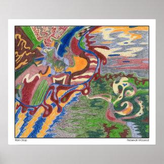 """""""Arte abstracto de la gota de lluvia"""" Poster"""