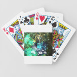 Arte abstracto de la guitarra cartas de juego