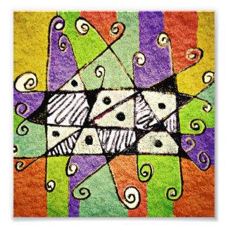 Arte abstracto de la impresión tribal multicolora fotografías