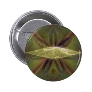 Arte abstracto de la jerarquía del capullo del lir pin redondo 5 cm
