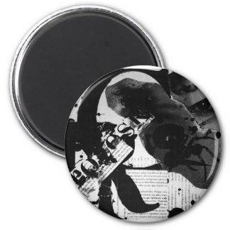 Arte abstracto de la letra imán redondo 5 cm