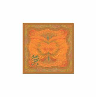 Arte abstracto de la mariposa anaranjada