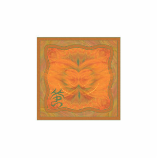 Arte abstracto de la mariposa anaranjada pin fotoescultura