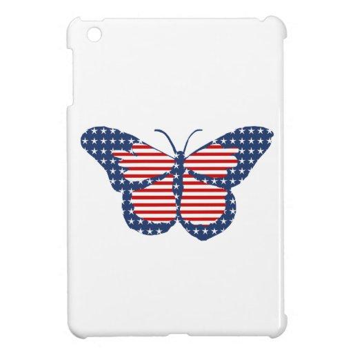Arte abstracto de la mariposa de la bandera americ