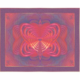 Arte abstracto de la mariposa extranjera chapa fotoescultura