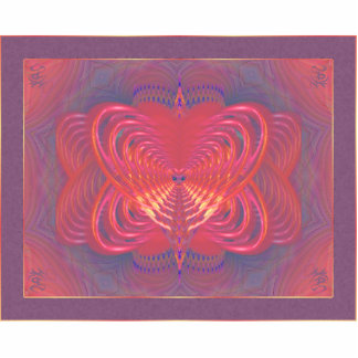 Arte abstracto de la mariposa extranjera pin fotoescultura
