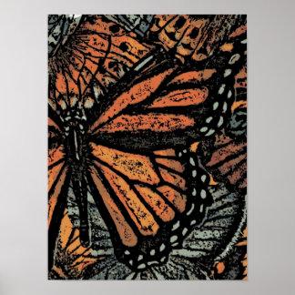 Arte abstracto de la mariposa impresiones
