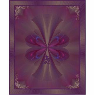 Arte abstracto de la mariposa púrpura
