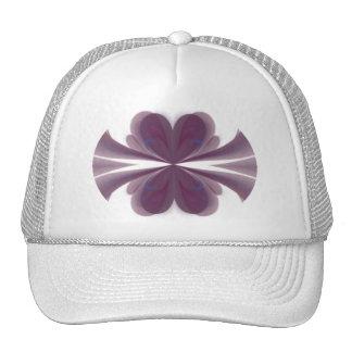Arte abstracto de la mariposa púrpura gorros bordados