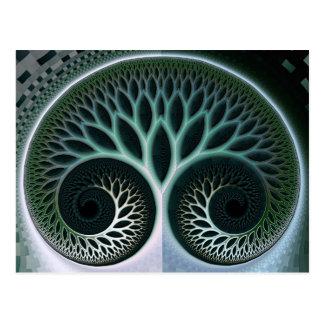 Arte abstracto de la naturaleza hermosa de la postales