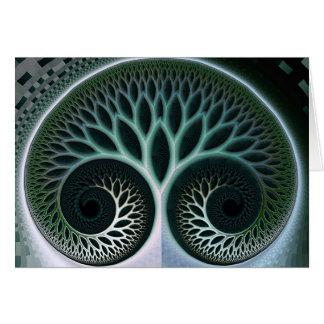 Arte abstracto de la naturaleza hermosa de la resp tarjeta pequeña