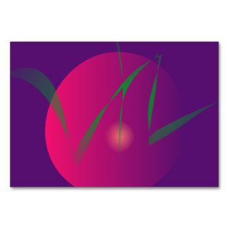 Arte abstracto de la noche púrpura doble de la lun