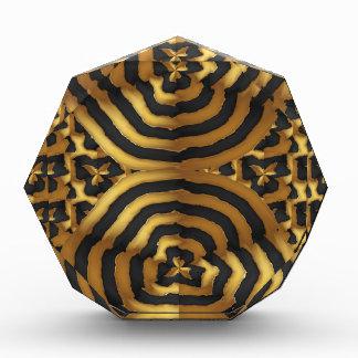 Arte abstracto de la onda de oro del oro en el