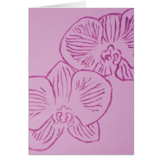 Arte abstracto de la orquídea púrpura tarjetas