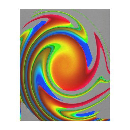 Arte abstracto de la pared impresión en lienzo estirada