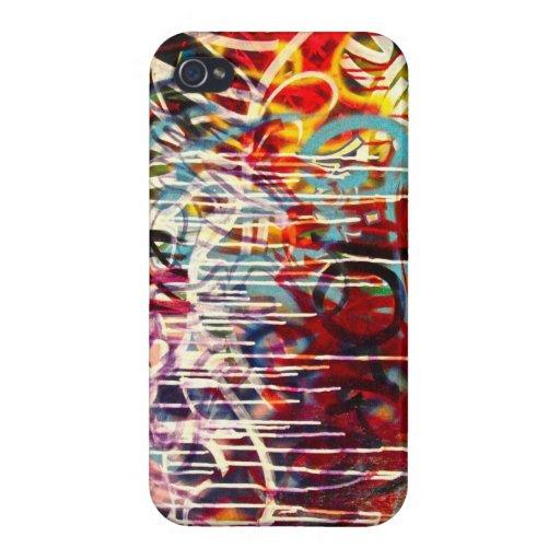 Arte abstracto de la pintada iPhone 4/4S fundas