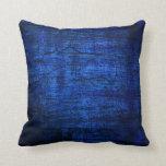 Arte abstracto de la pintura azul del Grunge Almohada