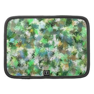 Arte abstracto de la pintura colorida organizador