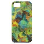 Arte abstracto de la pintura colorida iPhone 5 protector