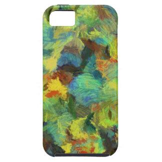 Arte abstracto de la pintura colorida funda para iPhone SE/5/5s