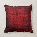 Arte abstracto de la pintura roja del Grunge Almohada
