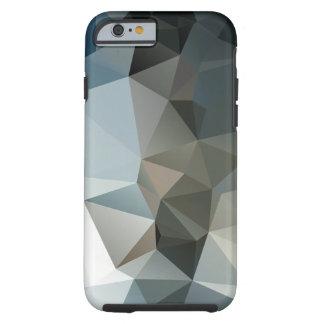 Arte abstracto de la pirámide de los azules y de funda de iPhone 6 tough