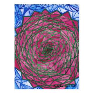 Arte abstracto de la postal, hecho por Husti 2011