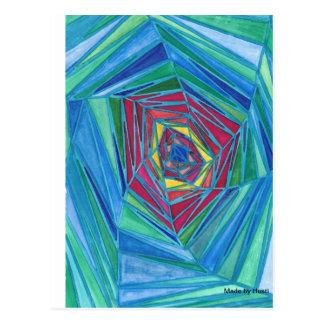 Arte abstracto de la postal, hecho por Husti