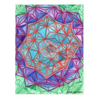 Arte abstracto de la postal