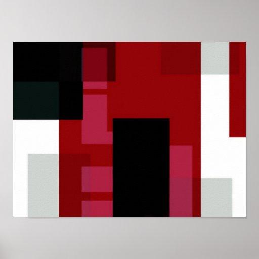 Arte abstracto de la quemadura del color posters