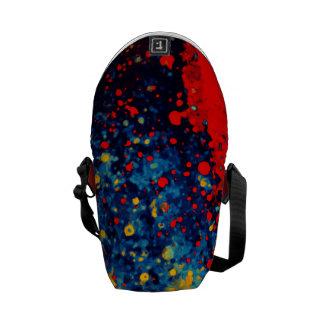 Arte abstracto de la salpicadura de la pintura de bolsas de mensajería