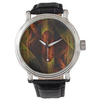 Arte abstracto de la selva de la mística relojes