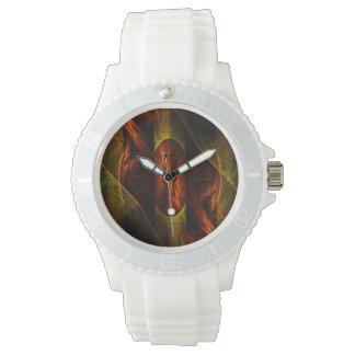 Arte abstracto de la selva de la mística relojes de pulsera
