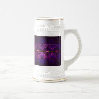 Arte abstracto de la tapicería fucsia del dragón jarra de cerveza