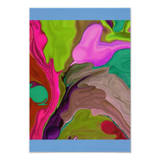 arte abstracto de la tarjeta del rsvp invitaciones personalizada