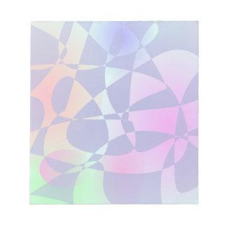 Arte abstracto de la teja del diseño quebrado del blocs de notas
