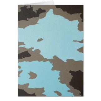 Arte abstracto de la turquesa y de Brown Felicitaciones