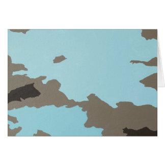 Arte abstracto de la turquesa y de Brown Tarjetas