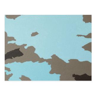 Arte abstracto de la turquesa y de Brown Postal