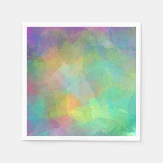 Arte abstracto de las acuarelas en colores pastel servilletas desechables