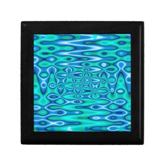 arte abstracto de las azules turquesas cajas de joyas