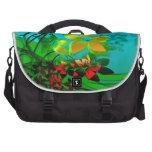 Arte abstracto de las flores, de las vides y de la bolsas para ordenador