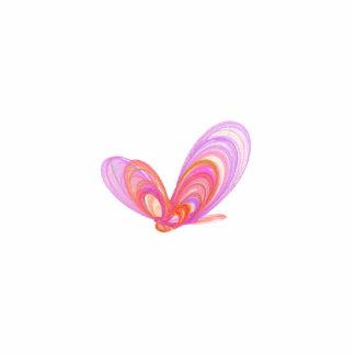 Arte abstracto de las mariposas rosadas del verano adorno fotoescultura