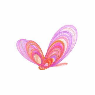 Arte abstracto de las mariposas rosadas del verano pin fotoescultura